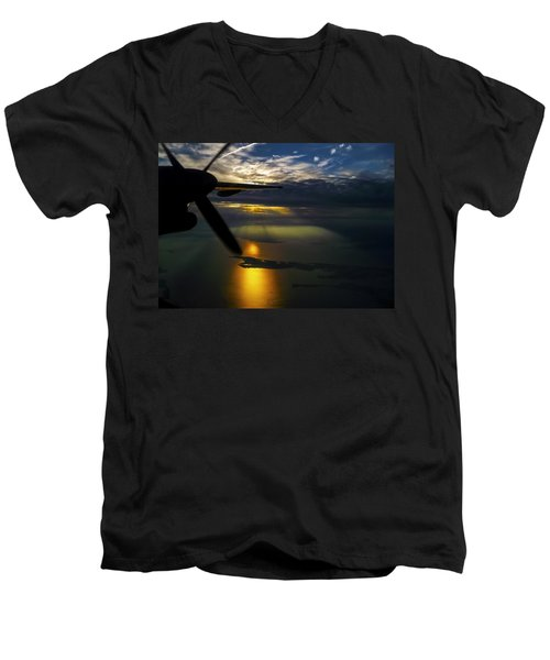 Dash Of Sunset Men's V-Neck T-Shirt