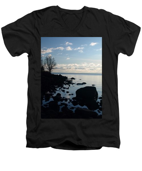 Men's V-Neck T-Shirt featuring the photograph Dawn At The Cove by James Peterson