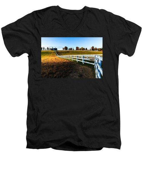 Dawn In Kentucky Men's V-Neck T-Shirt