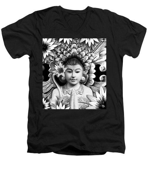 Dawning Of The Goddess Men's V-Neck T-Shirt by Christopher Beikmann
