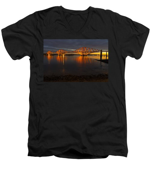 Daybreak At The Forth Bridge Men's V-Neck T-Shirt