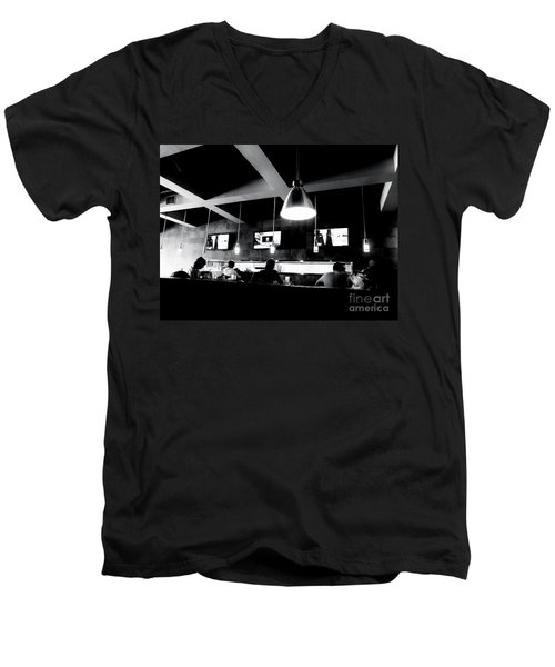 Men's V-Neck T-Shirt featuring the photograph Dayhawks by Amar Sheow