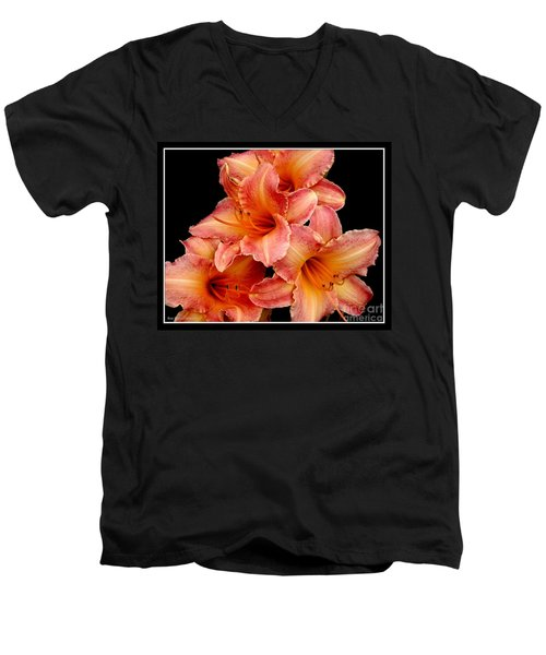 Men's V-Neck T-Shirt featuring the photograph Daylilies 2 by Rose Santuci-Sofranko