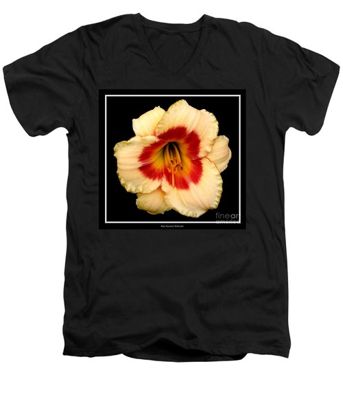 Men's V-Neck T-Shirt featuring the photograph Daylily 3 by Rose Santuci-Sofranko