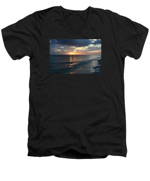 Days End Over Sanibel Island Men's V-Neck T-Shirt by Christiane Schulze Art And Photography