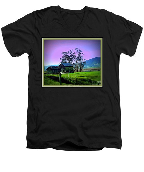 Men's V-Neck T-Shirt featuring the photograph Days Gone By by Bobbee Rickard