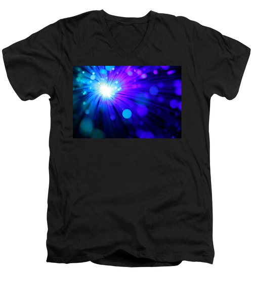 Dazzling Blue Men's V-Neck T-Shirt