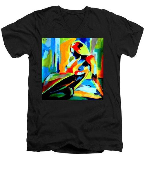 Dazzling Light Men's V-Neck T-Shirt