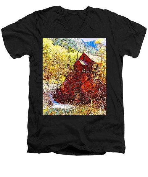 Deadhorse Mill Men's V-Neck T-Shirt by Dan Miller
