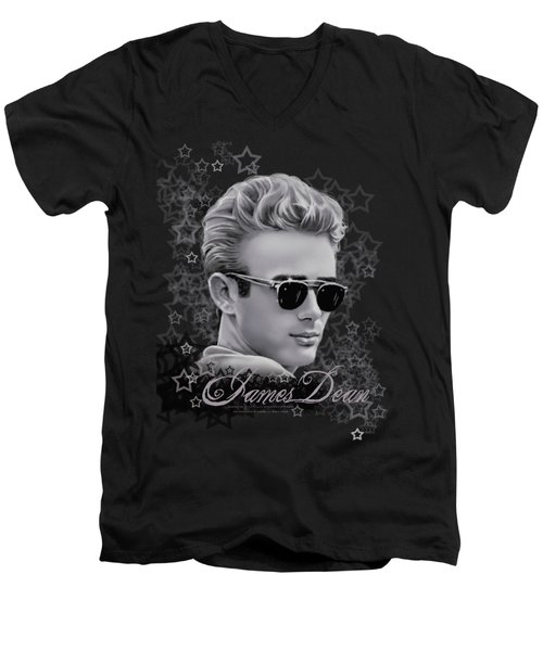Dean - Movie Star Men's V-Neck T-Shirt by Brand A