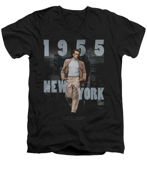 Dean - New York 1955 Men's V-Neck T-Shirt by Brand A