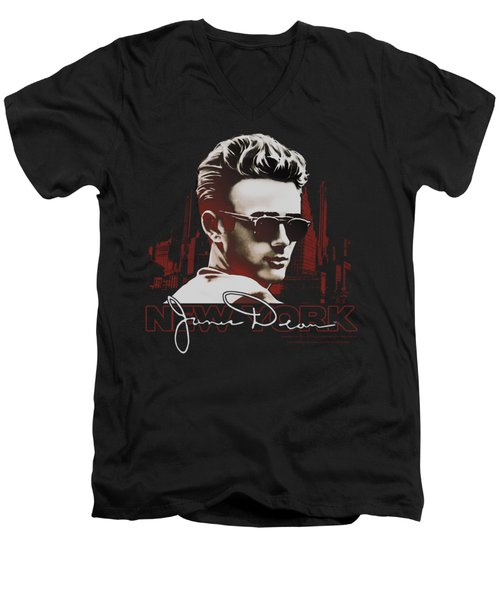 Dean - New York Shades Men's V-Neck T-Shirt by Brand A