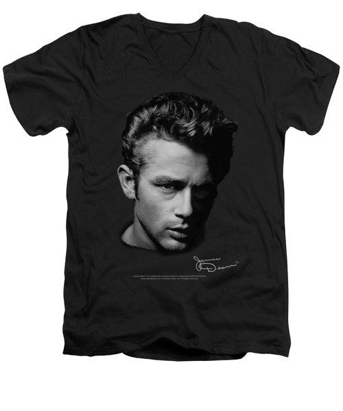 Dean - Portrait Men's V-Neck T-Shirt by Brand A
