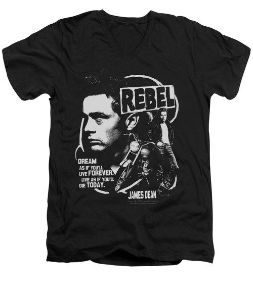 Dean - Rebel Cover Men's V-Neck T-Shirt