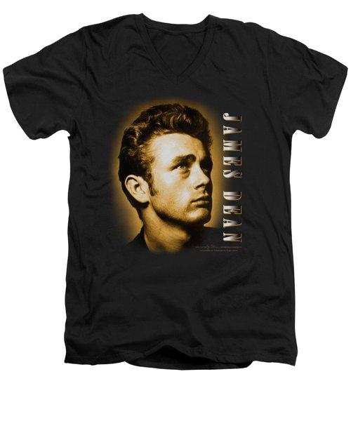 Dean - Sepia Portrait Men's V-Neck T-Shirt