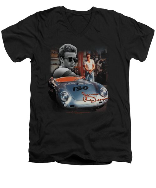 Dean - Sunday Drive Men's V-Neck T-Shirt by Brand A