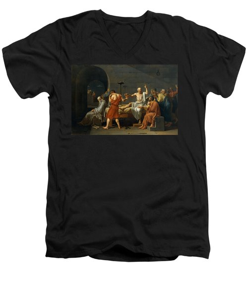 Death Of Socrates Men's V-Neck T-Shirt