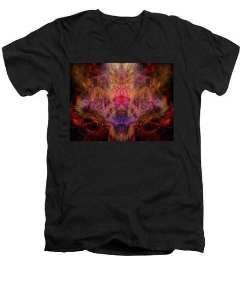 Decalcomaniac Mirror Men's V-Neck T-Shirt by Otto Rapp