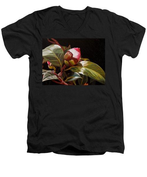 December Rose Men's V-Neck T-Shirt
