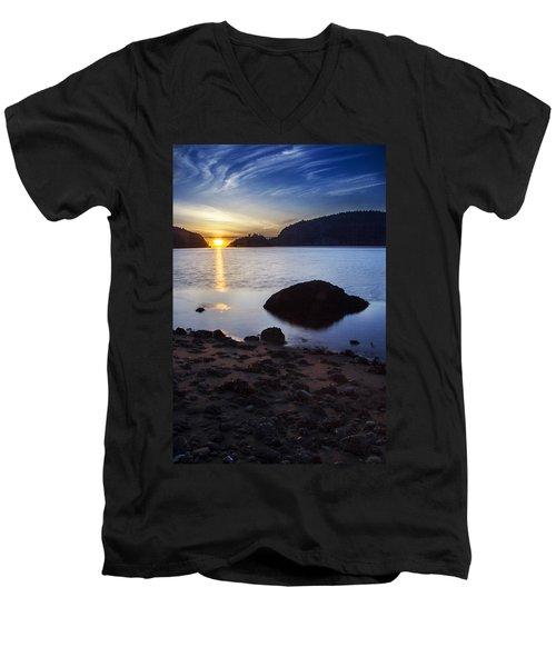Deception Pass 3 Men's V-Neck T-Shirt by Sonya Lang
