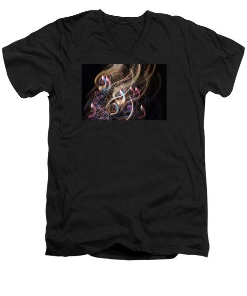 Men's V-Neck T-Shirt featuring the photograph Deco Movement by Adria Trail