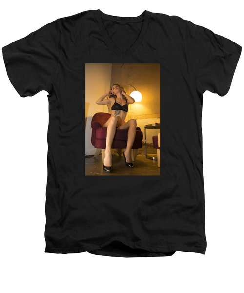 Deep Thoughts 0 Men's V-Neck T-Shirt by Mez