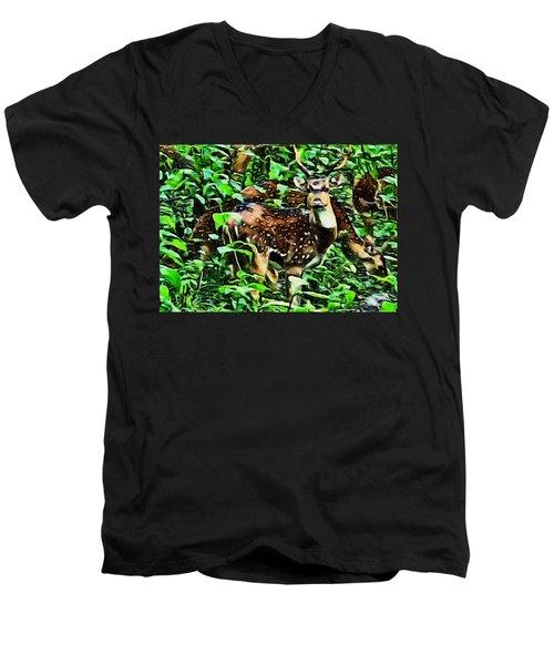 Deer's Green Day Men's V-Neck T-Shirt