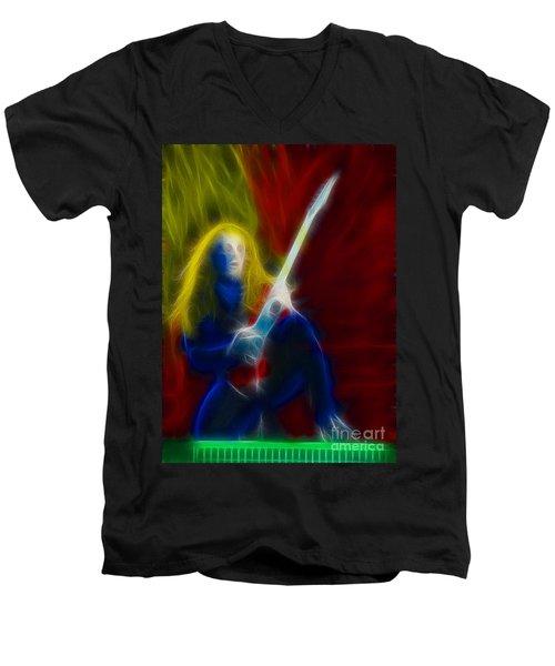 Def Leppard-adrenalize-ga5-vivian-fractal Men's V-Neck T-Shirt