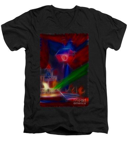 Def Leppard-adrenalize-gf12-fractal Men's V-Neck T-Shirt