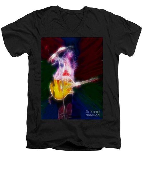 Deff Leppard-adrenalize-joe-gf25-fractal Men's V-Neck T-Shirt