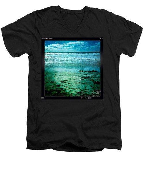 Del Mar Glow Men's V-Neck T-Shirt
