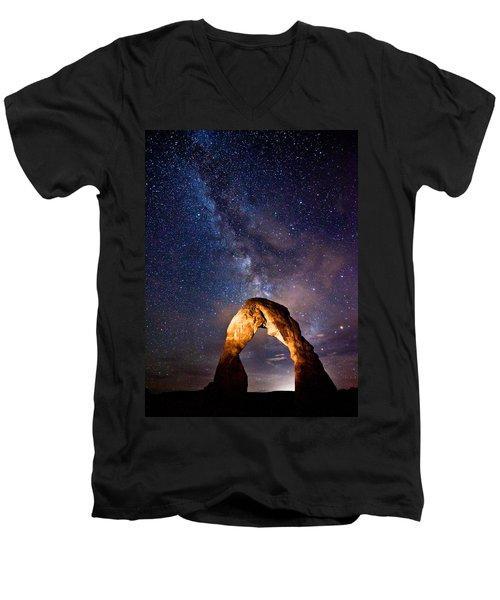 Delicate Light Men's V-Neck T-Shirt