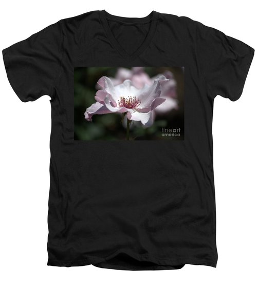 Delicate Pink Men's V-Neck T-Shirt