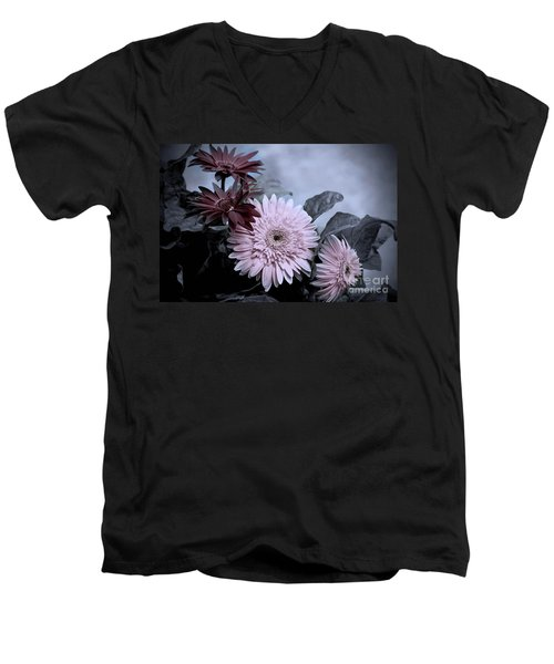 Men's V-Neck T-Shirt featuring the photograph Delicate Solstice by Cathy  Beharriell