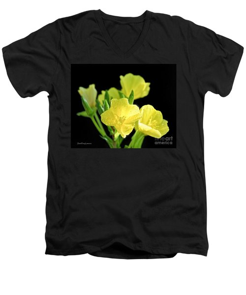 Delicate Yellow Wildflowers In The Sun Men's V-Neck T-Shirt