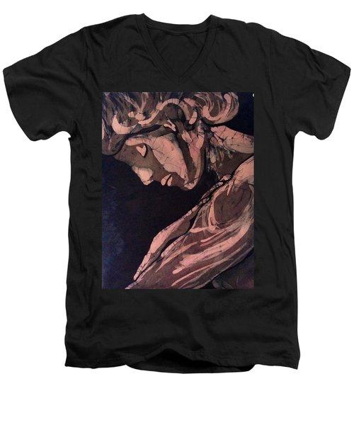 Demure  Men's V-Neck T-Shirt