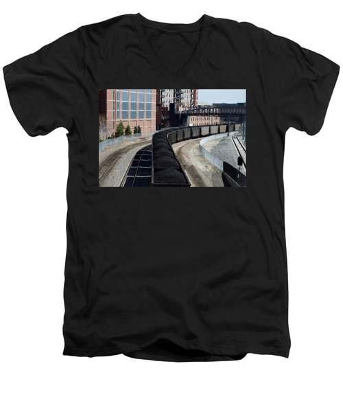 Denver Rail Yard Men's V-Neck T-Shirt
