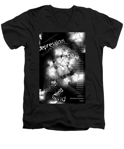 Depression Erodes My Mind Men's V-Neck T-Shirt