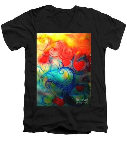 Depths Of His Love Men's V-Neck T-Shirt by Hazel Holland