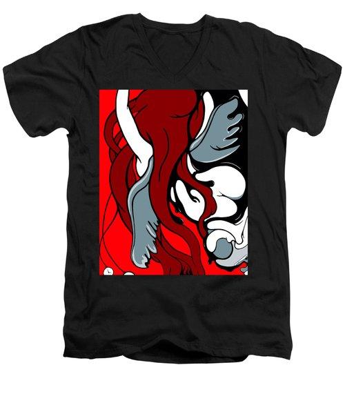 Descending Men's V-Neck T-Shirt