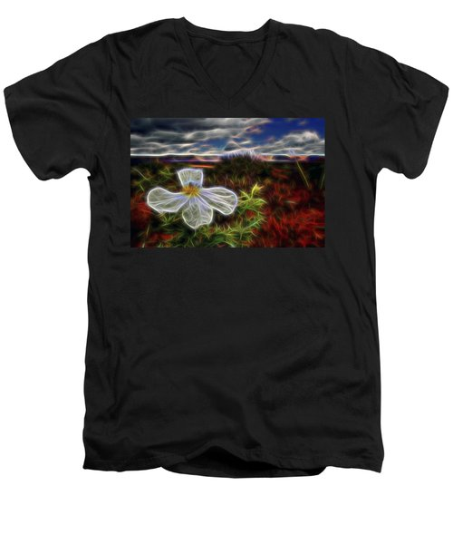 Desert Primrose 1 Men's V-Neck T-Shirt by William Horden