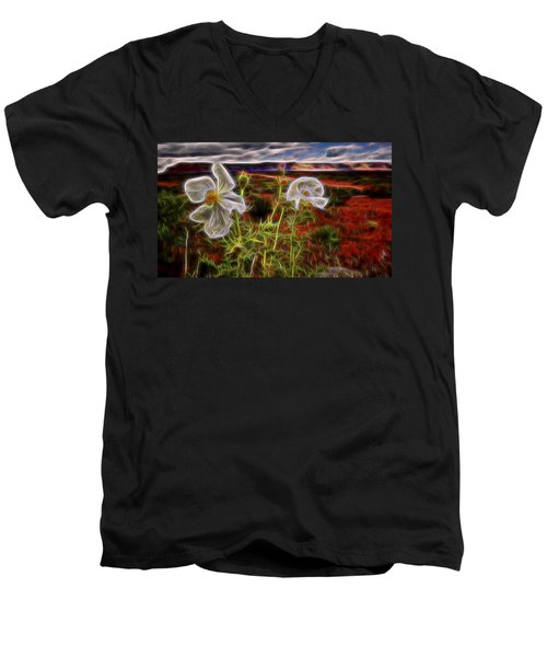 Desert Primrose 2 Men's V-Neck T-Shirt by William Horden