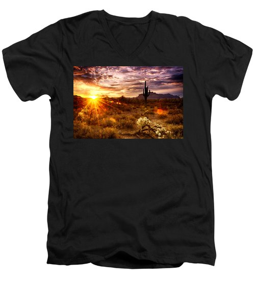 Desert Sunshine  Men's V-Neck T-Shirt