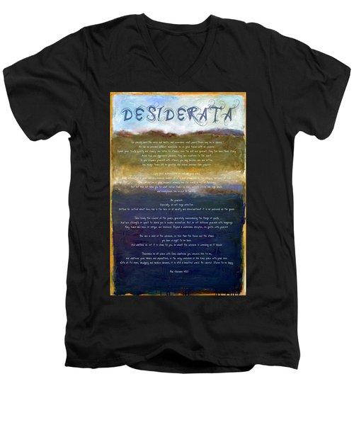 Desiderata Lll Men's V-Neck T-Shirt