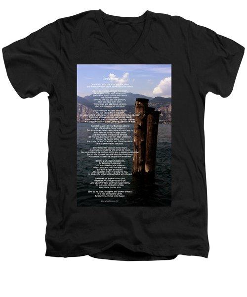 Desiderata On Lake View Men's V-Neck T-Shirt