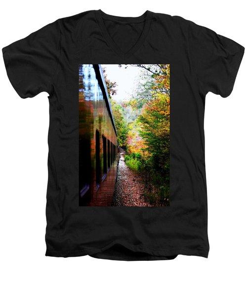 Men's V-Neck T-Shirt featuring the photograph Destination by Faith Williams