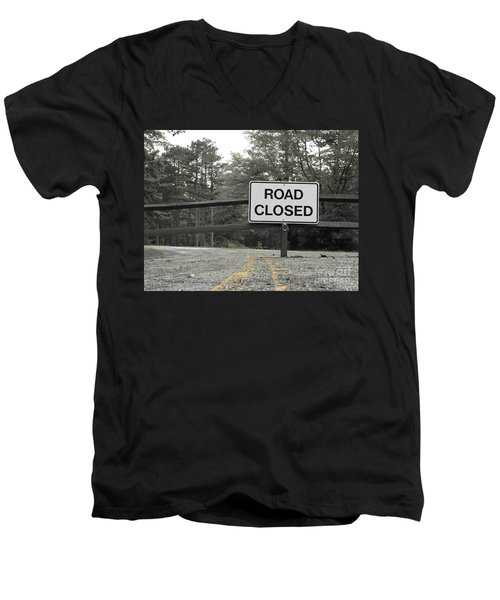 Men's V-Neck T-Shirt featuring the photograph Detour by Michael Krek
