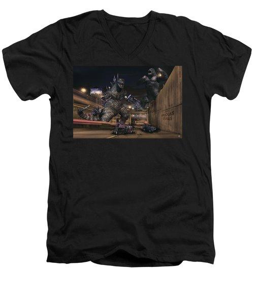 Detroits Zoo Men's V-Neck T-Shirt