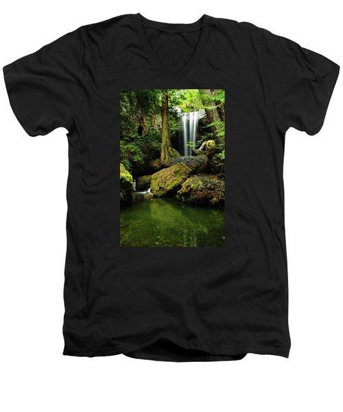 Devil Creek Falls  Men's V-Neck T-Shirt