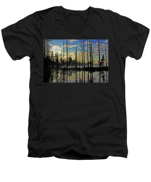 Devils Den In The Pine Barrens Men's V-Neck T-Shirt